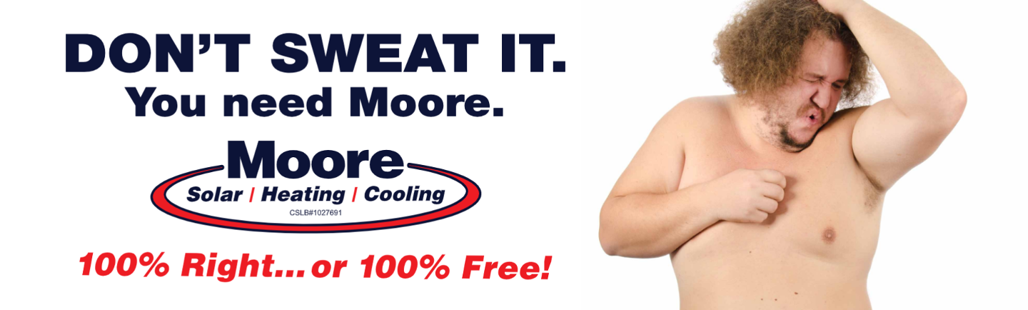 Moore Home Services dont-sweat-it Billboard
